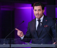 NEW YORK, NY - SEPTEMBER 20:  Edgar Ramirez speaks at HeForShe 2nd Anniversary Reception at Museum of Modern Art on September 20, 2016 in New York City.  (Photo by Rob Kim/Getty Images)
